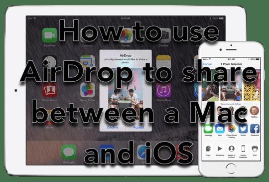 AirDrop — Как обмениваться файлами между Mac и iOS (iPhone и iPad)