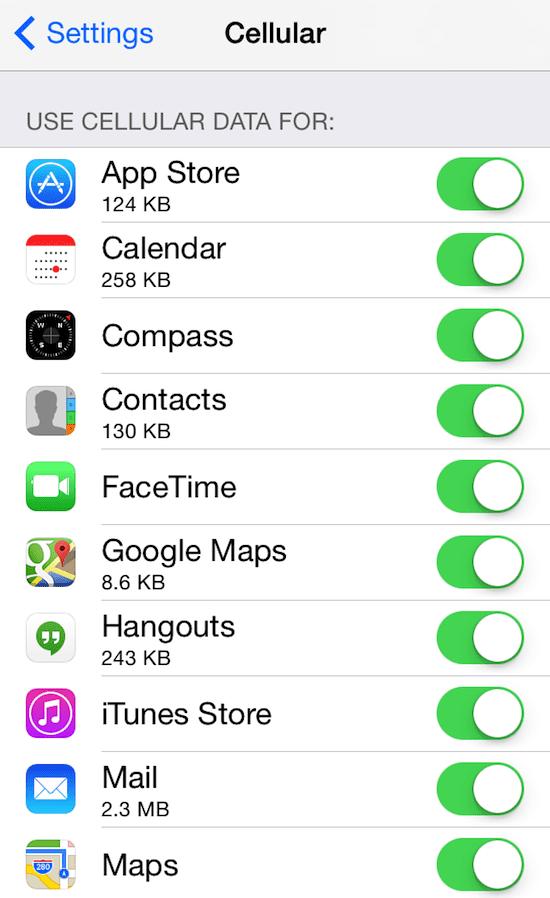 Как просматривать и настраивать использование сотовых данных на вашем iPhone и iPad