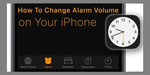 Как изменить громкость будильника на вашем iPhone