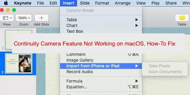 Функция камеры Continuity не работает на MacBook, как исправить
