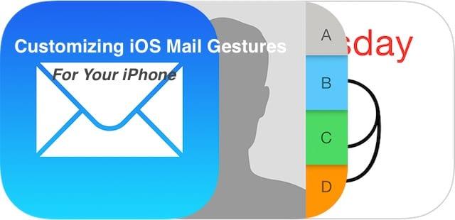 Настройка жестов почты iOS, инструкции