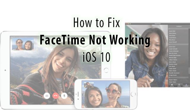 FaceTime не работает в iOS 10, как исправить