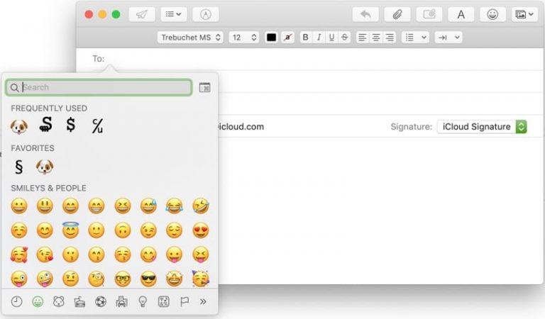 Как добавить и использовать любимые эмодзи и символы в почте на Mac