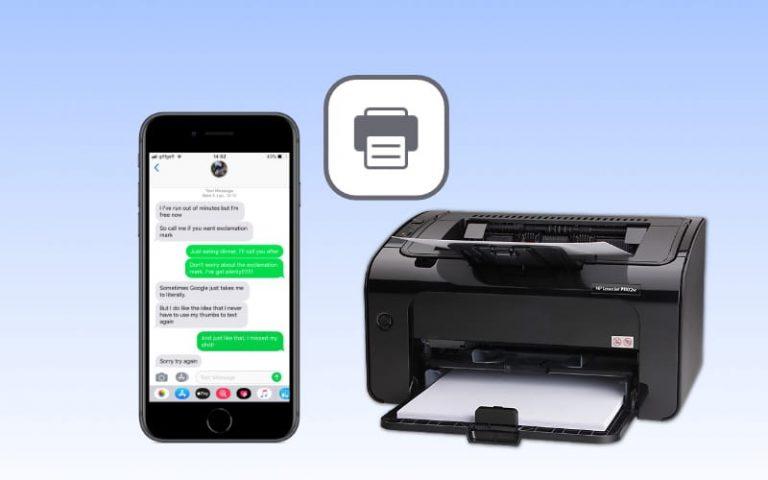 Узнайте, как распечатать текстовые сообщения с iPhone
