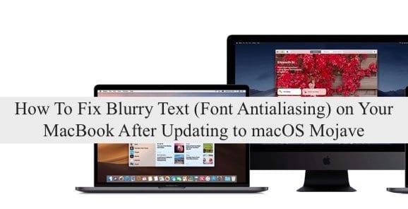 Как исправить размытый текст после обновления до macOS Mojave