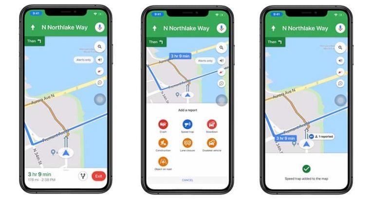 Теперь вы можете сообщать о дорожных или полицейских ловушках на Google Maps для iOS.