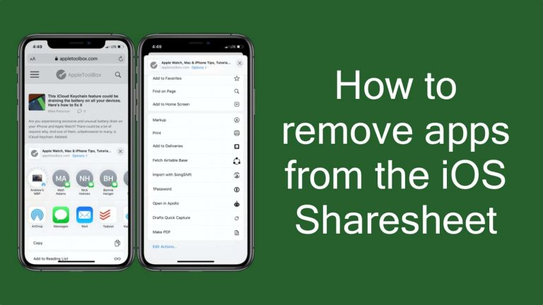 Как удалить приложения из общего листа iOS