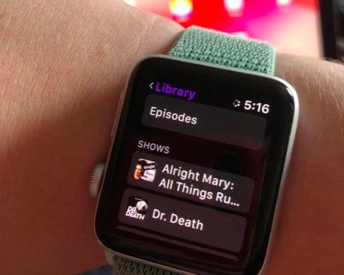 Как настроить и воспроизводить подкасты на Apple Watch с помощью watchOS 5