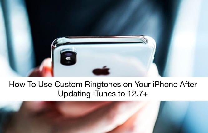 Как использовать собственные рингтоны и мелодии после обновления до iTunes 12.7