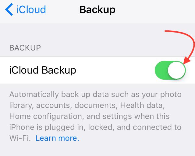 Как удалить резервные копии iCloud
