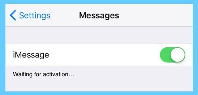 Как исправить ожидание активации FaceTime или iMessage?