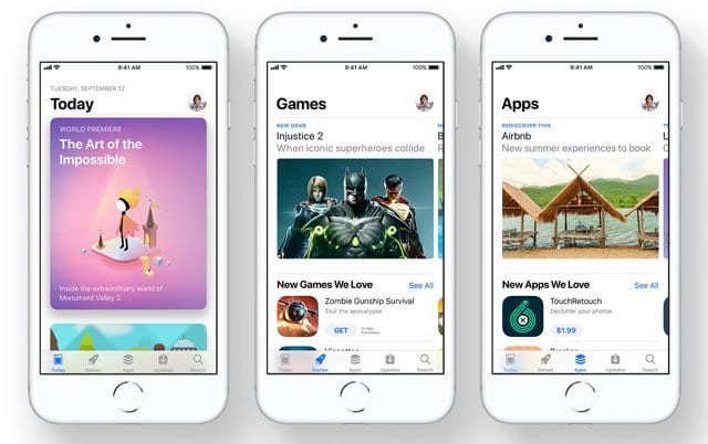 Где мои приобретенные приложения в магазине приложений iOS 11?