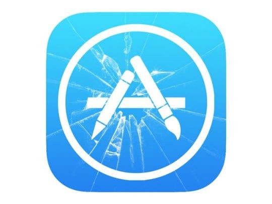 Сбой приложения App Store, исправить