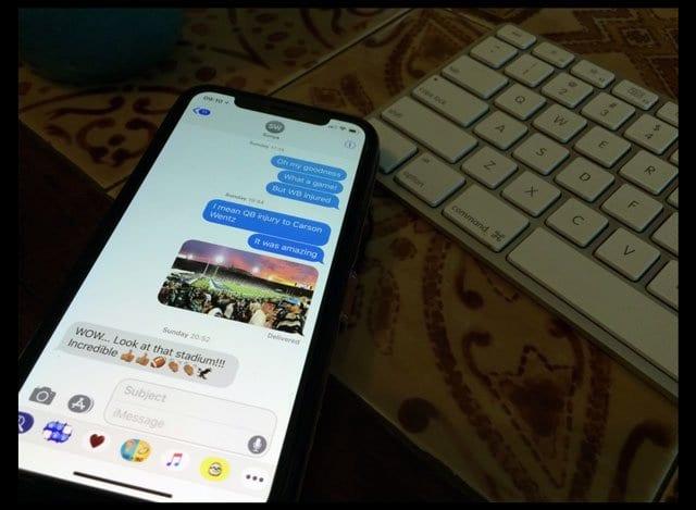 Как переслать текстовые сообщения, изображения или вложения на другой телефон