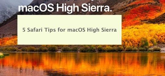 5 советов по Safari для macOS High Sierra