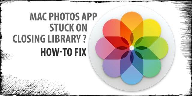 """Не удается закрыть библиотеку фотографий?  Застряли на сообщении """"Закрытие библиотеки""""?  Как исправить"""