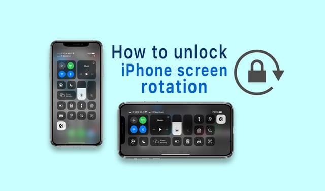 Как заставить экран iPhone снова повернуться
