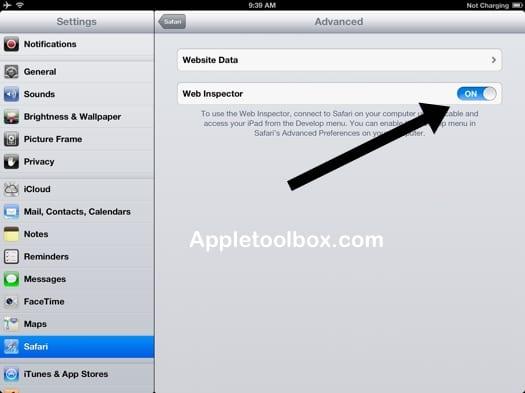 Как использовать Web Inspector на iPad / iPhone для настройки удаленной отладки с помощью Safari
